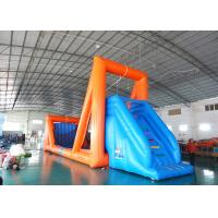 Green Inflatable Zip Line Sports For Outdoor Event Adventure Games
