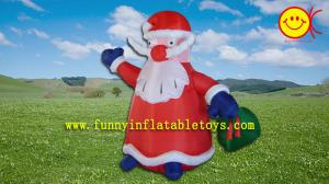 China OEM Small Inflatable Advertising Christmas Father , Wild Party Santa Claus on sale