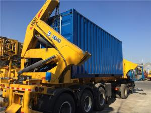 China Steel side loading trailer side lifter truck with XCMG cranes on sale