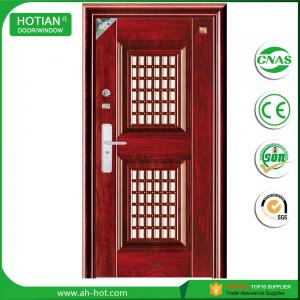 China Latest design main gate steel security door iron gate designs with CE on sale