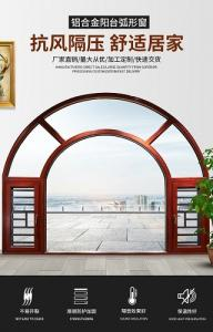 China Arched 90 Degrees 6mm Aluminium Frame Casement Window on sale