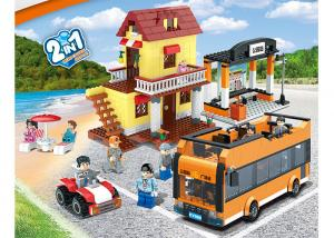 China 435Pcs Children's Plastic Building Blocks Sets Mini City Scene 2 Assorted on sale