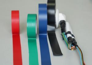 China ケーブルおよびワイヤーのための黒い光沢があるポリ塩化ビニール耐熱性電気テープ on sale
