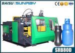 estación plástica tres EBM principal SRB70D-3 del doble de la máquina del moldeo por insuflación de aire comprimido de la botella del HDPE 1000ml
