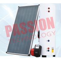 Natural Circulation Split Solar Water Heater Flat Plate Copper Connection
