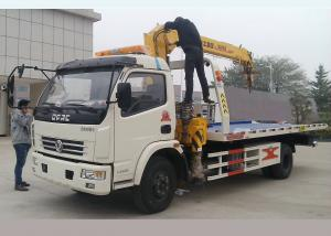China 5 Meters Flatbed Wrecker Tow Truck With 3.2 Ton XCMG Crane Vehicle Lifting on sale