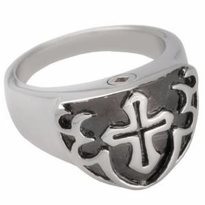 Silver Color Men Cremation URN Jewelry Jesus Christ Cross Rings for