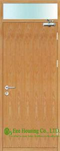 China Commercial Timber fire rated doors With Fire Glass, Single Leaf on sale