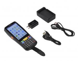 China Portable Android Industrial PDA 1D / 2D Barcode Scanner Biometric 4 Inch LCD on sale