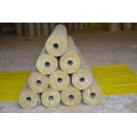 Low Dust Rockwool Pipe Insulation , Mineral Wool Thermal Insulation Pipe
