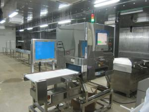 China SUS304 X Ray Inspection Equipment Auto conveyor type Food / Fish Bones Usage on sale