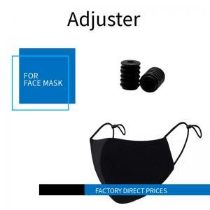 China White & Black Color Cord Lock Stopper Plastic Ear Loop String Adjuster on sale