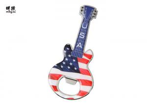 China Guitar Shape Flat Collectible Bottle Openers , Bottle Openers Epoxy Doming on sale