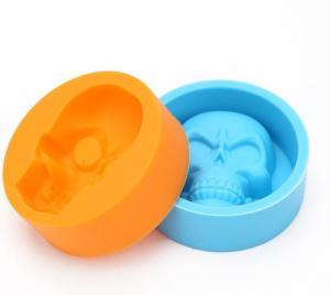 China Bulk Small Size Mini Ice Cube Trays Single Skull Mold Multi Colors on sale
