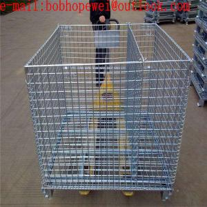 China storage folding galvanized mesh storage cage/1.20m*1.0m*0.89m storage fold cage from 100% really factory on sale
