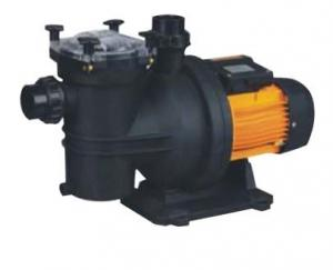 China DC Brushless Motor Swimming Pool Water Pump , Circulation Water Pump Black And Yellow Color on sale