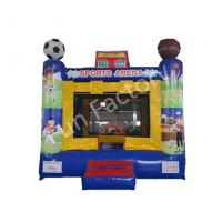 Football / Baseball Inflatable Bouncer House With Netting Door Sports Game Use