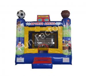 China Football / Baseball Inflatable Bouncer House With Netting Door Sports Game Use on sale