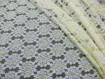 Soft Yellow Cotton Nylon Lace Fabric Dot Floral Knitted For Lace Dress CY-DK0034