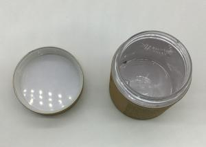 China SGS Storage PET Jar With Screw Cap And Paper Lid / Plastic Tube Containers on sale