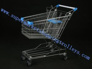 China Light Duty Metal Steel Unfolding Supermarket Shopping Trolleys with Child Seat on sale