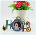 China Shinny Gifts Alloy handmade enamel photo frame with art design for wedding gifts wholesale