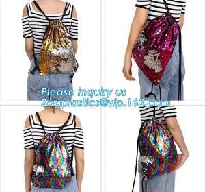 China mini sequins backpacks bag Bow bling women bags glittering sequin backpack,travel oxford glitter Sequin Reversible Merma on sale