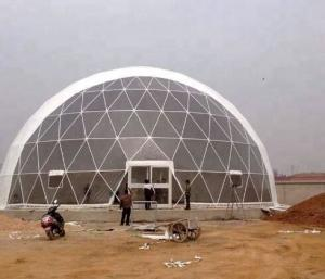China UV Resistance PVC Geodesic Dome Tent Dia 16M For Outdoor Hotel on sale