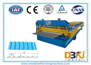 China 0.8~1.2mm Thickness metal roof roll forming machine , roofing sheet roll forming machine on sale