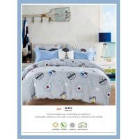 China 4 Piece Natural Cotton Bedding Sets , Double Size Cotton King Size Comforter Sets on sale