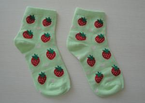 China Customize Knitted Cotton Baby Socks , Jacquard Girl's Short Ankle Socks For Winter on sale