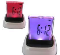 China 7-color changing multifunction LCD clock on sale