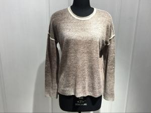 China Long Sleeve Round Neck Ladies Cashmere Sweaters With Computer Plain Knitted And Beading Decoration on sale