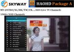 HAOHD IPTV  Malaysia Package A with live tv and vod ch  include Chinese Malaysia Singapore indian for android tv box