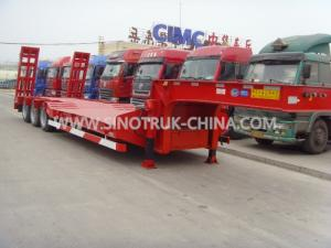 China low bed trailer 3 axles BPW brand   12.00R20 tyres  ABS  Optional JOST support leg on sale