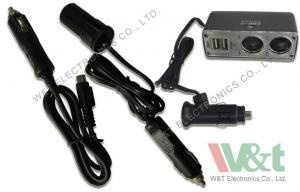 China iPad 24V 12V DC Power Cable 2 USB / 2 DC Socket Cigarette Lighter Adapter on sale