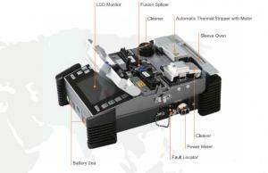 China Korea Ilsintech V-groove Clad alignment Fusion Splicer SWIFT F1 on sale