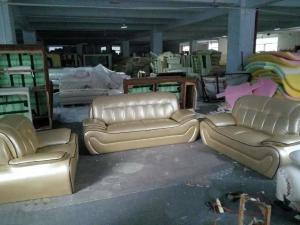 C37 Modern Genuine Leather Sofa Set Home Furniture Office