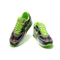 Nike Air Max 90 Tape Fluorescent Green Grey Brown Mens Shoes Sales $62.98