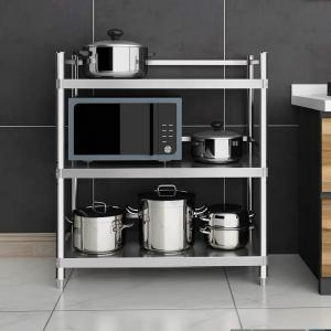 H136 3 Layers Stainless Steel Wire Kitchen Shelves Resist ...