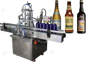 China High Speed Automatic Beer Bottling Machine , Glass Bottle Filling Machine on sale