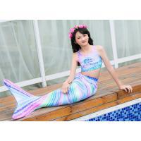 Colorful Unicorn Mermaid Tails for Swimming Princess Bikini Bathing Suit Children
