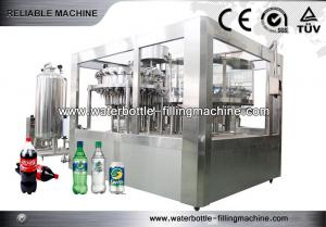 China 24 Heads Carbonated Drink Bottling Machine Washing Filling Capping Machine 3 In 1 on sale
