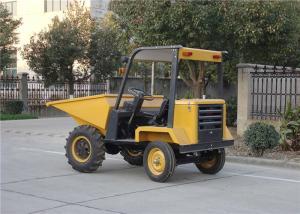 China Diesel Powered Wheelbarrow with Engine , 750L Skip Capacity Tracked Power Barrow on sale