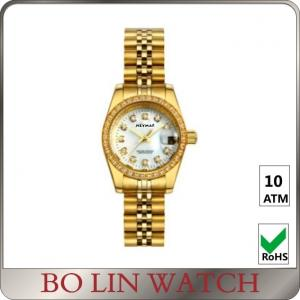 5 Atm Water Resistant Real Gold Diamond Watches Vintage Ladies 18