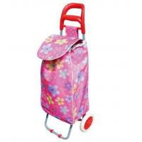 Lightweight Foldable Laundry / Shopping Trolley Cart Rolling Push Dolly with Tote