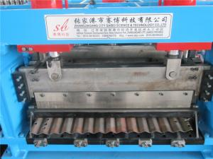China Galvanized Steel Curving Machine / Silo Roll Forming Machine by Gear Box Main Power 110KW on sale