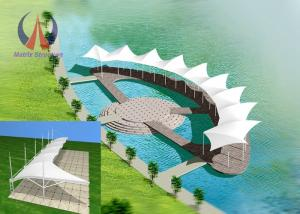 China ClearSpan Fabric Membrane Roof , Cable Membrane Roof Shade Structures For Gallery on sale