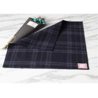 60 Wool Duffle Coat Scottish Plaid Fabric Dark Blue In Stock British Style