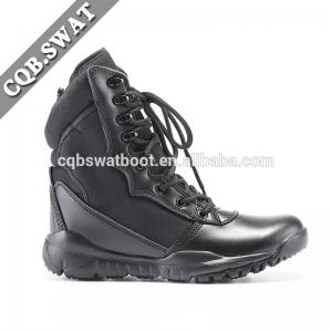 China Black 9 inches super light New Field Army Men Tactical Military Boots with zipper on sale
